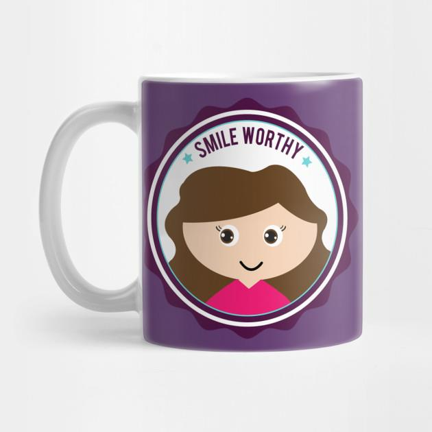 Smile worthy girl mug