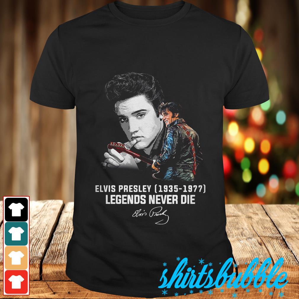 Elvis Presley Womens T-Shirt Memories Black Tee