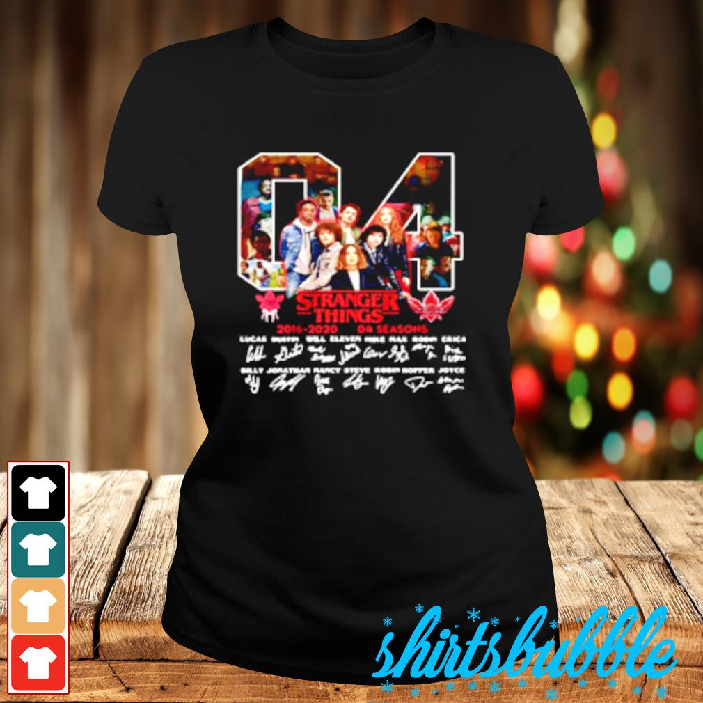 04 Stranger Things 2016 2020 04 Seasons Signatures Shirt Ladies-tee
