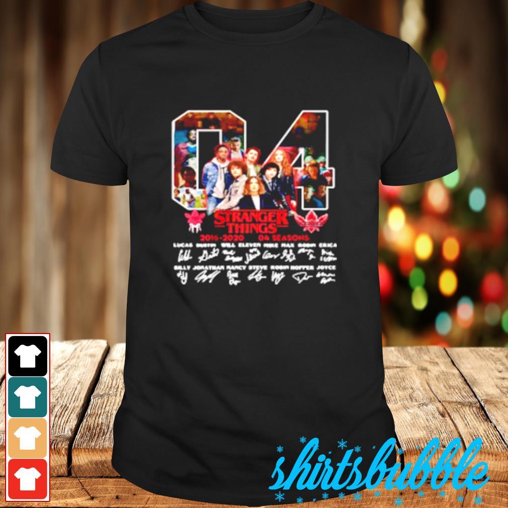 04 Stranger Things 2016 2020 04 Seasons Signatures Shirt