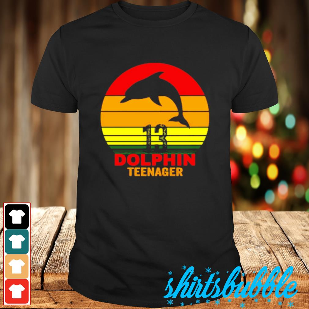 13 Dolphin teenager shirt