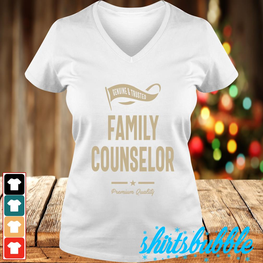 Genuine trusted Family counselor premium quality s V-neck t-shirt