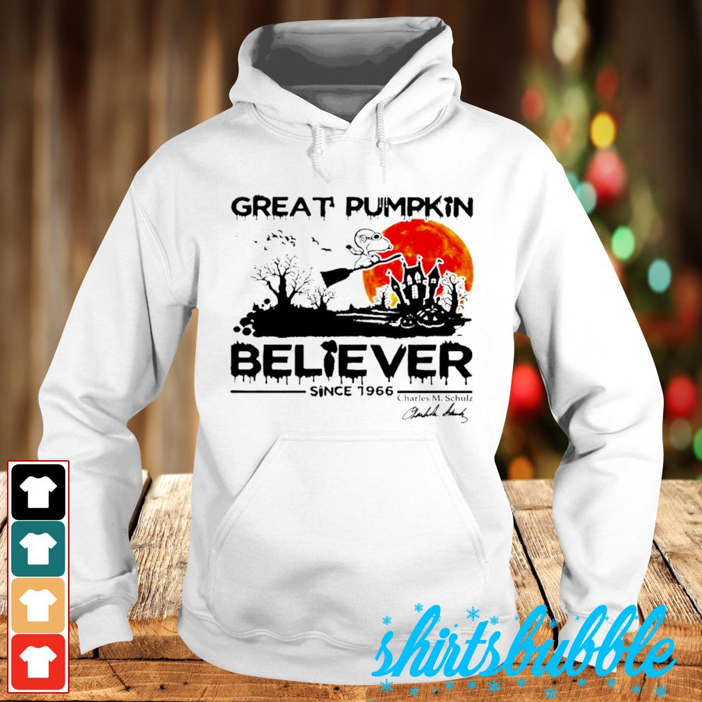 Great pumpkin believer since 1966 Charles M Chulz s Hoodie