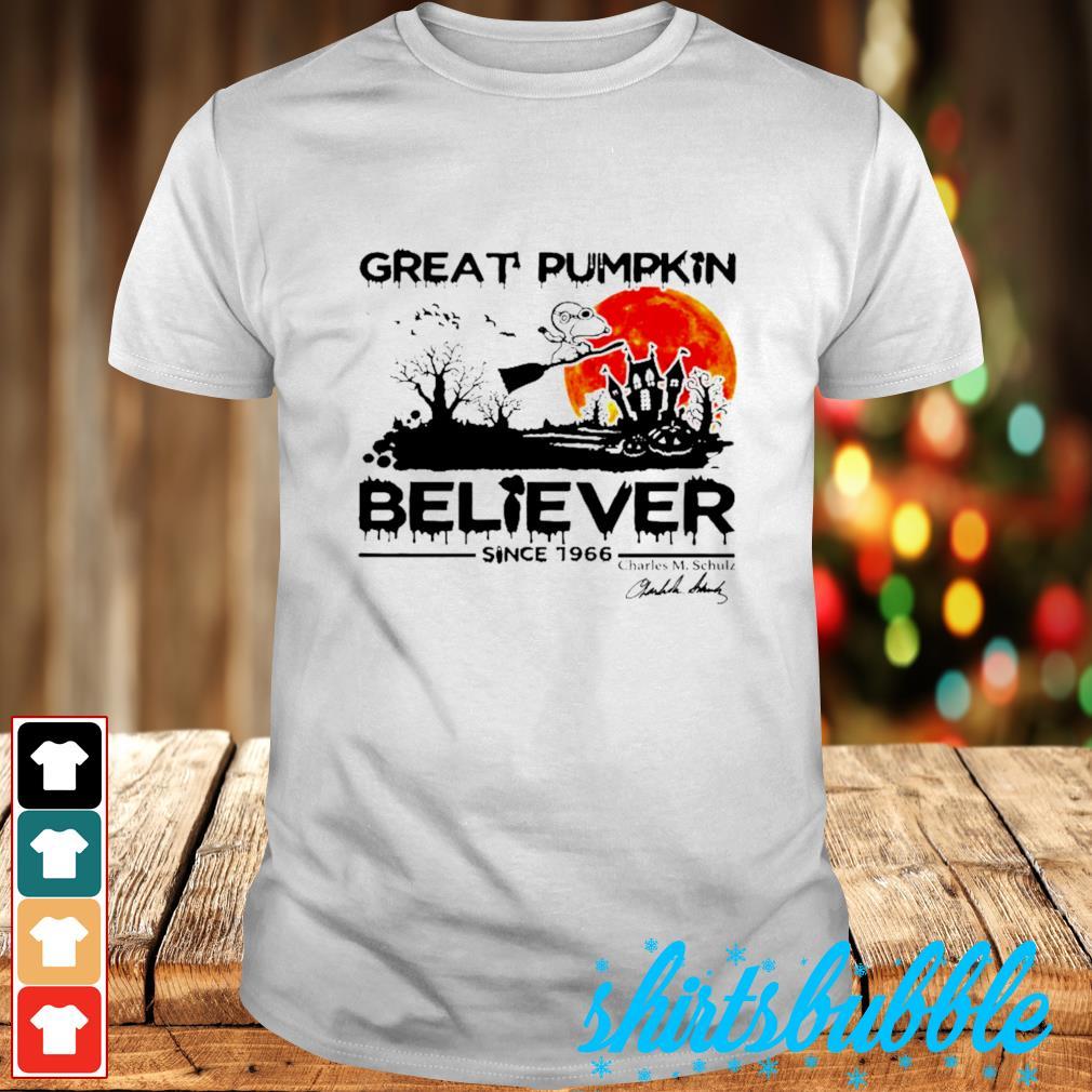 Great pumpkin believer since 1966 Charles M Chulz shirt