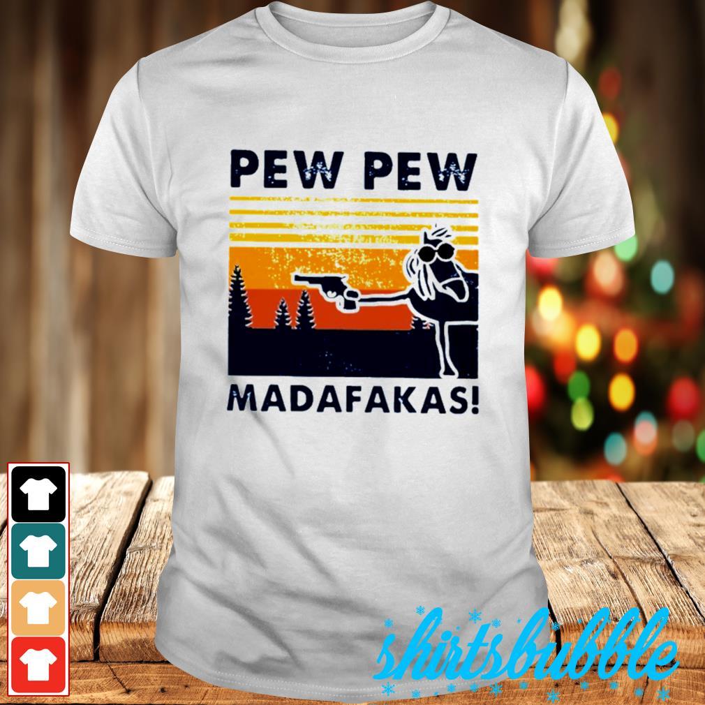 Pew pew madafakas horse vintage shirt