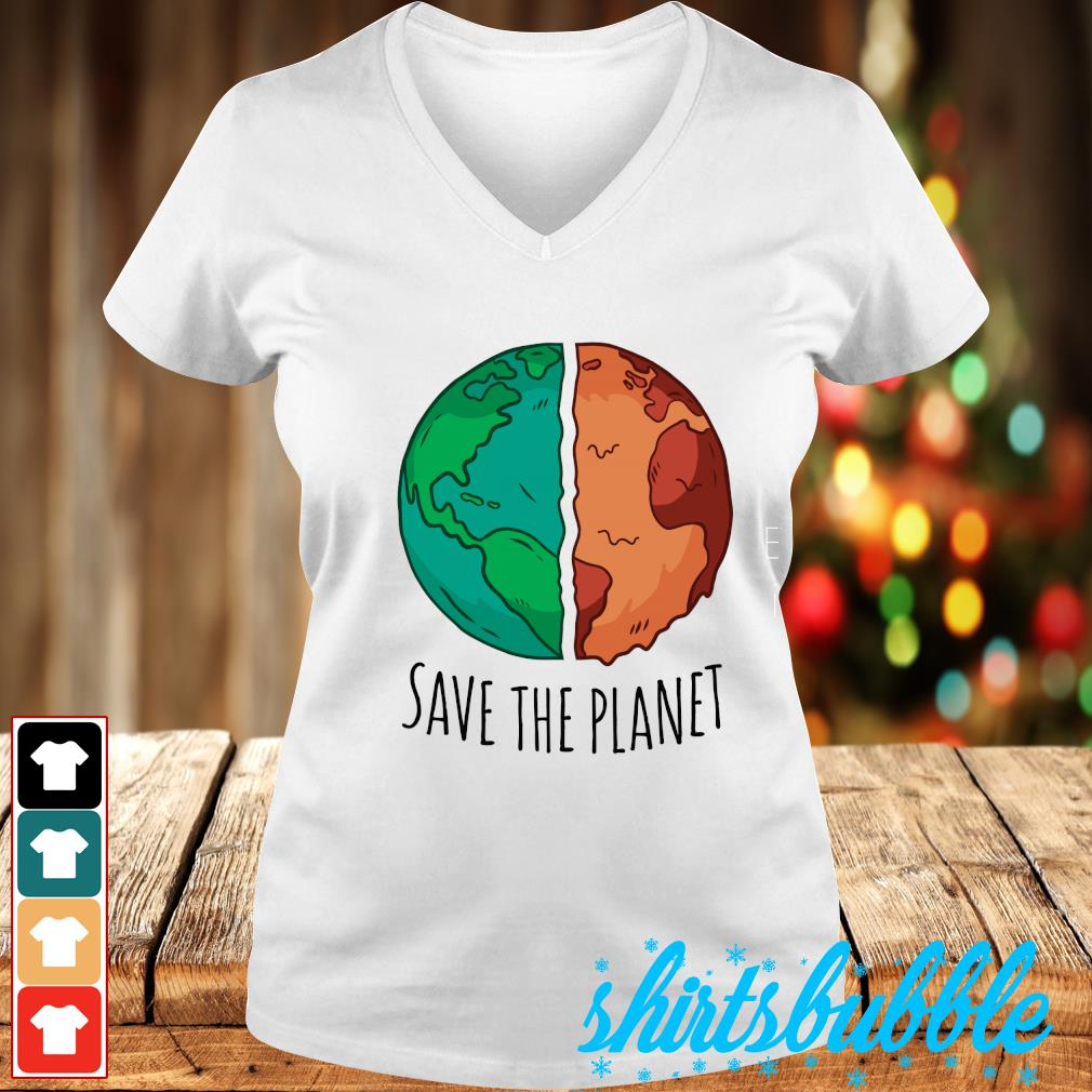 Save the planet s V-neck t-shirt