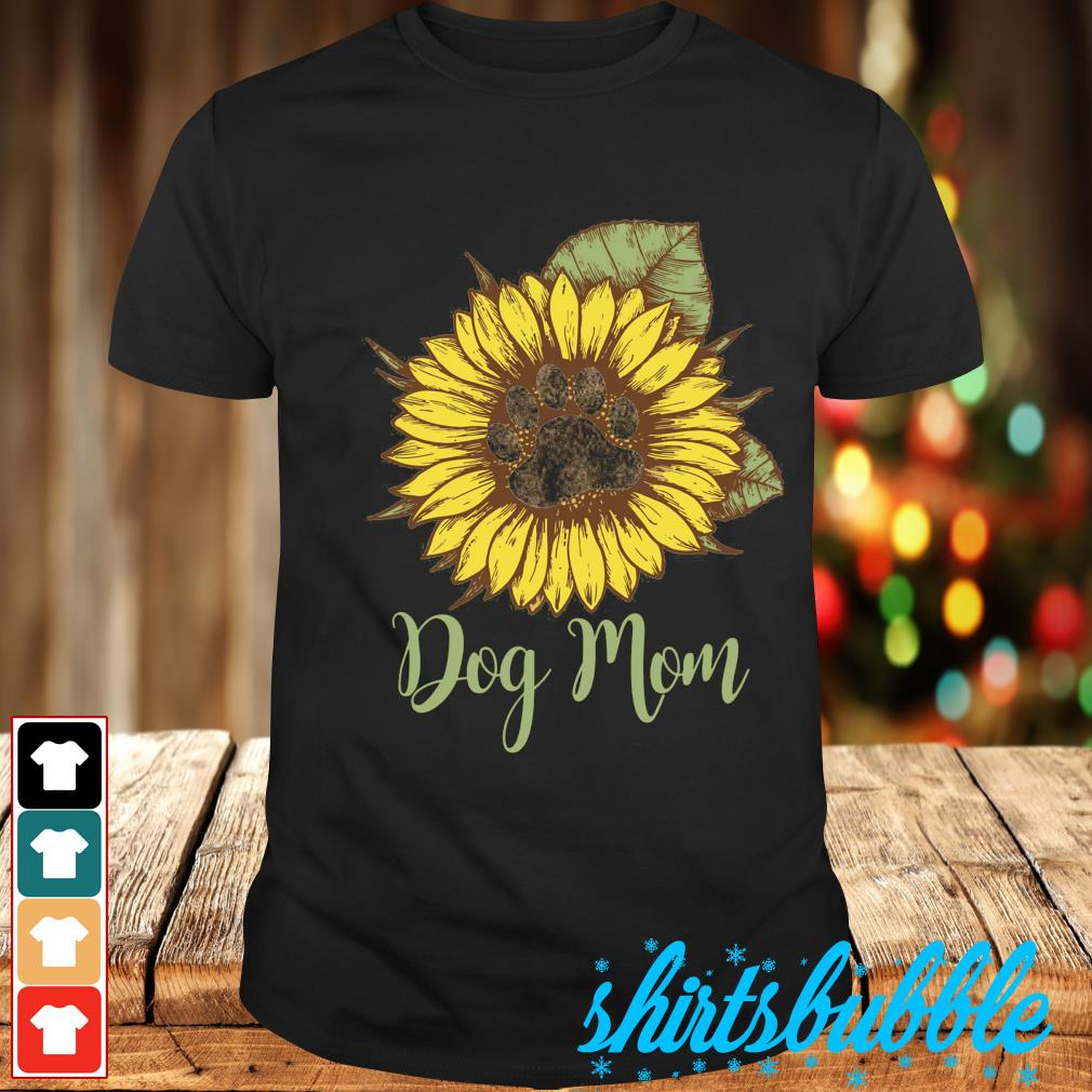 Sunflower paw dog mom shirt