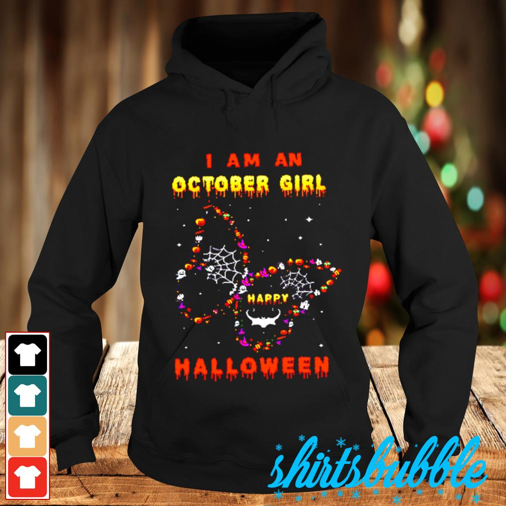 I Am A October Girl Happy Butterfly Halloween s Hoodie