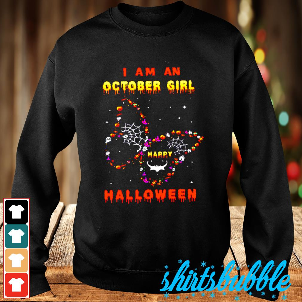 I Am A October Girl Happy Butterfly Halloween s Sweater