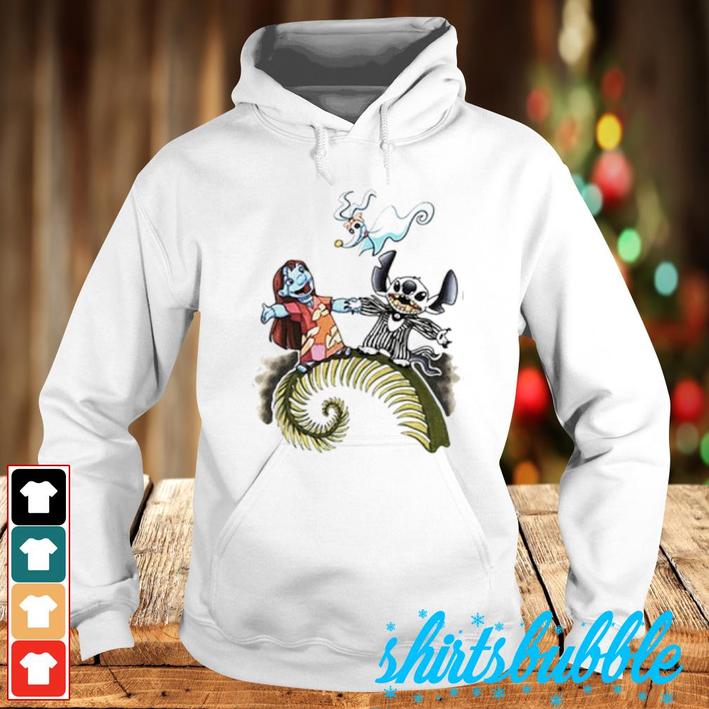 Lilo and Stitch as Jack and Sally Zero s Hoodie