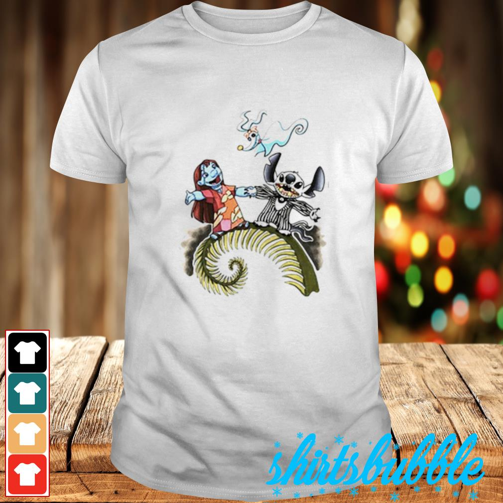 Lilo and Stitch as Jack and Sally Zero shirt