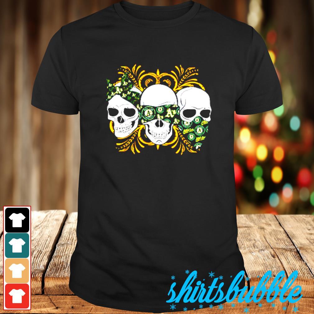Skull Oakland athletics shirt