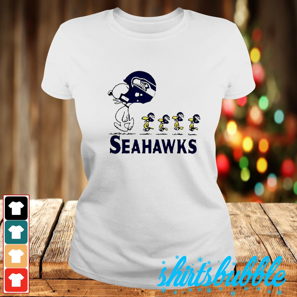 Snoopy and Woodstock player of Seattle Seahawks s Ladies-tee