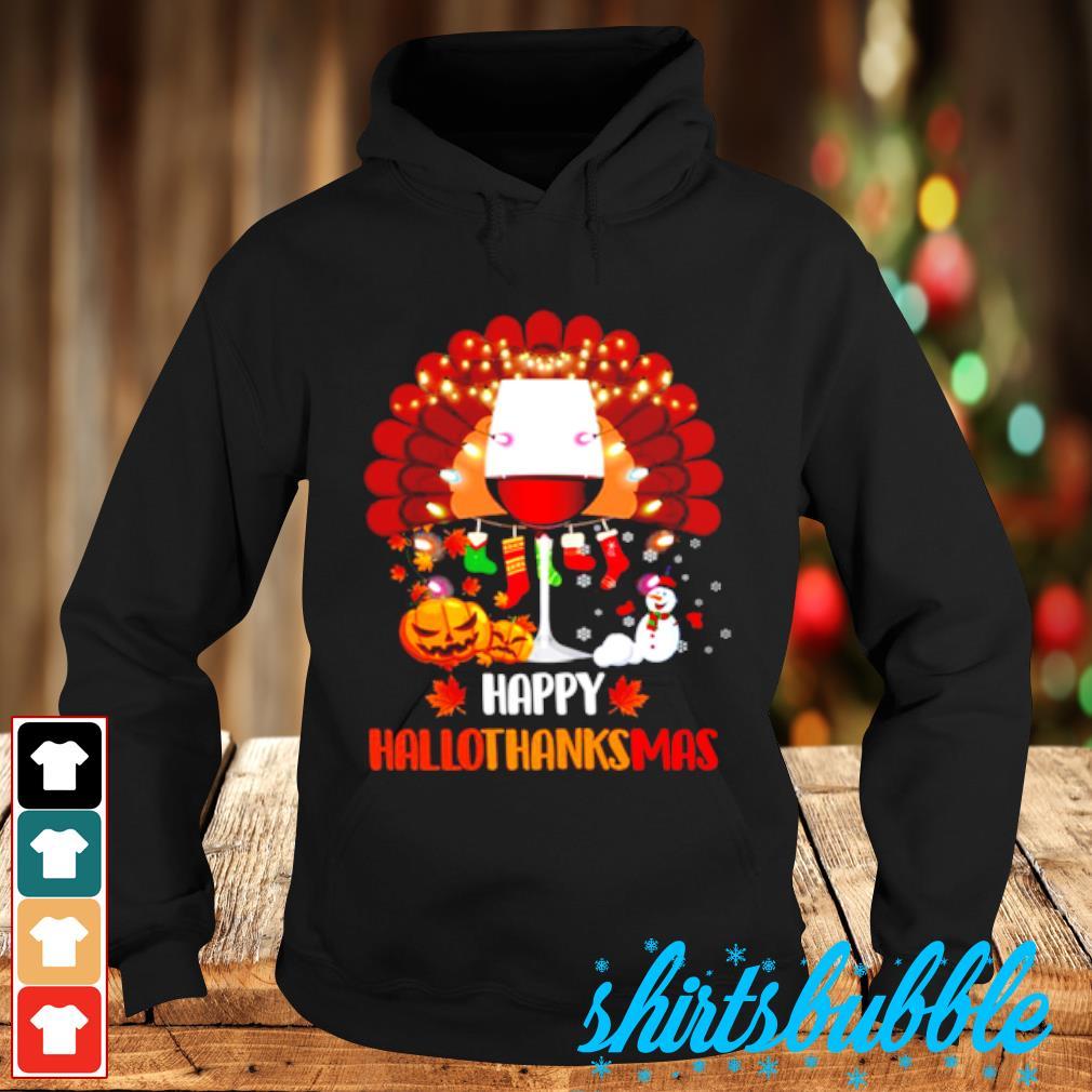 Wine Turkey Happy Hallothanksmas s Hoodie