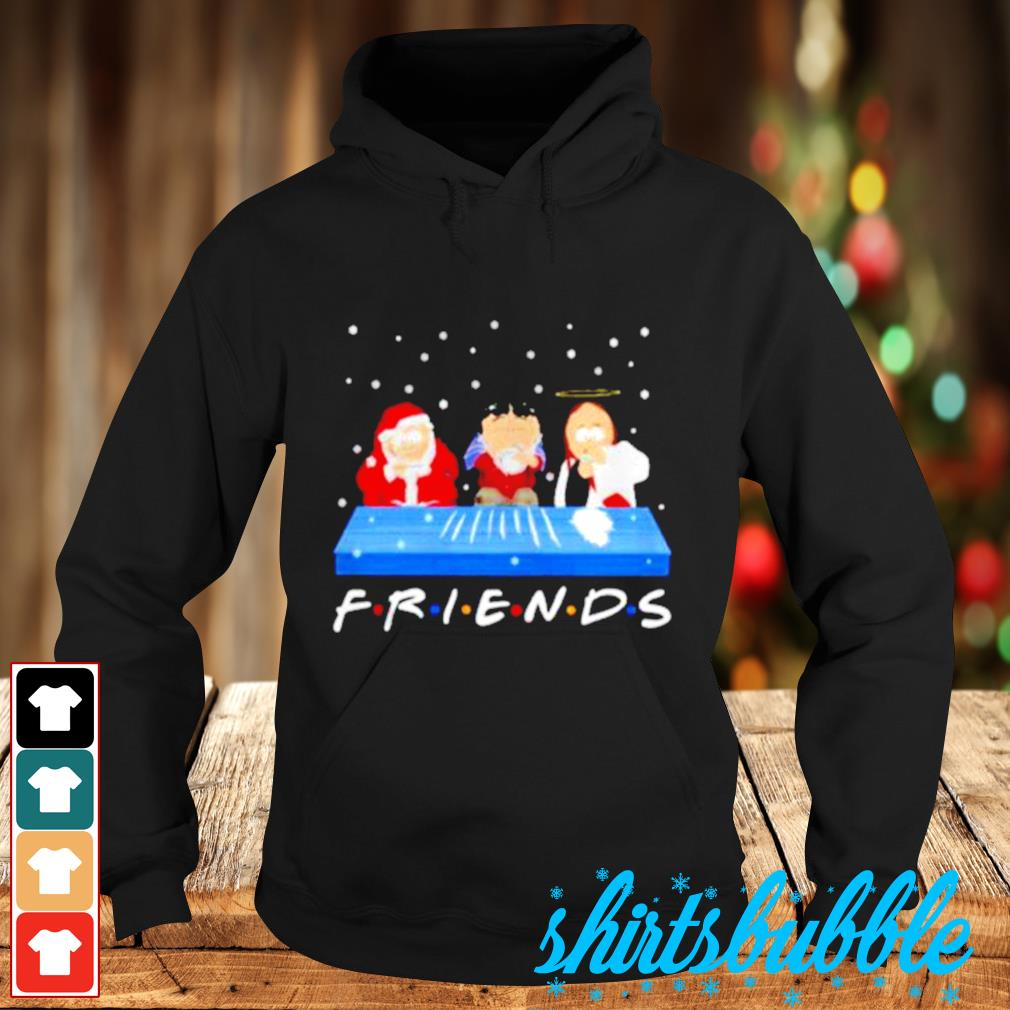 Jesus Randy and Santa Christmas snow Marijuana friends s Hoodie