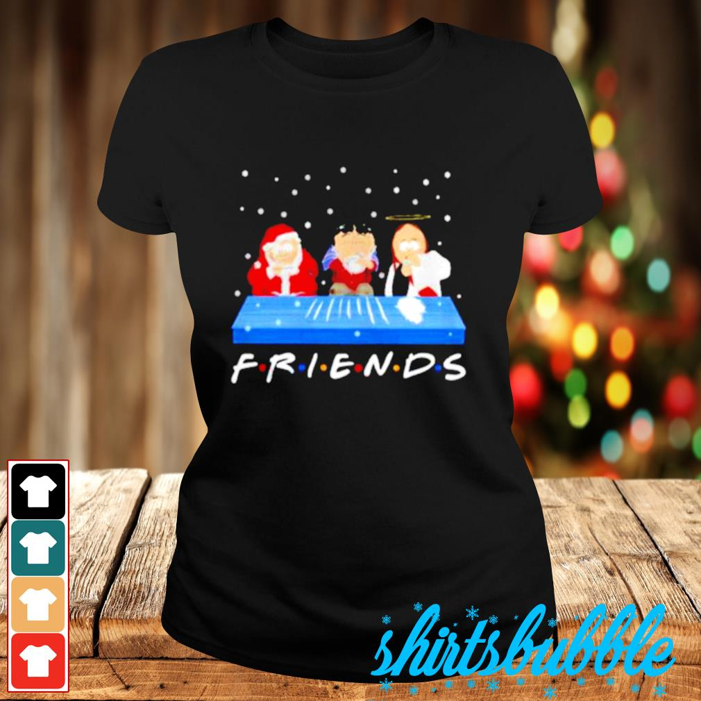 Jesus Randy and Santa Christmas snow Marijuana friends s Ladies-tee