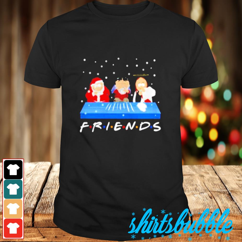 Jesus Randy and Santa Christmas snow Marijuana friends shirt