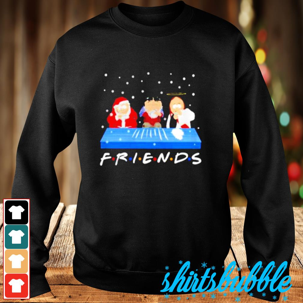 Jesus Randy and Santa Christmas snow Marijuana friends s Sweater