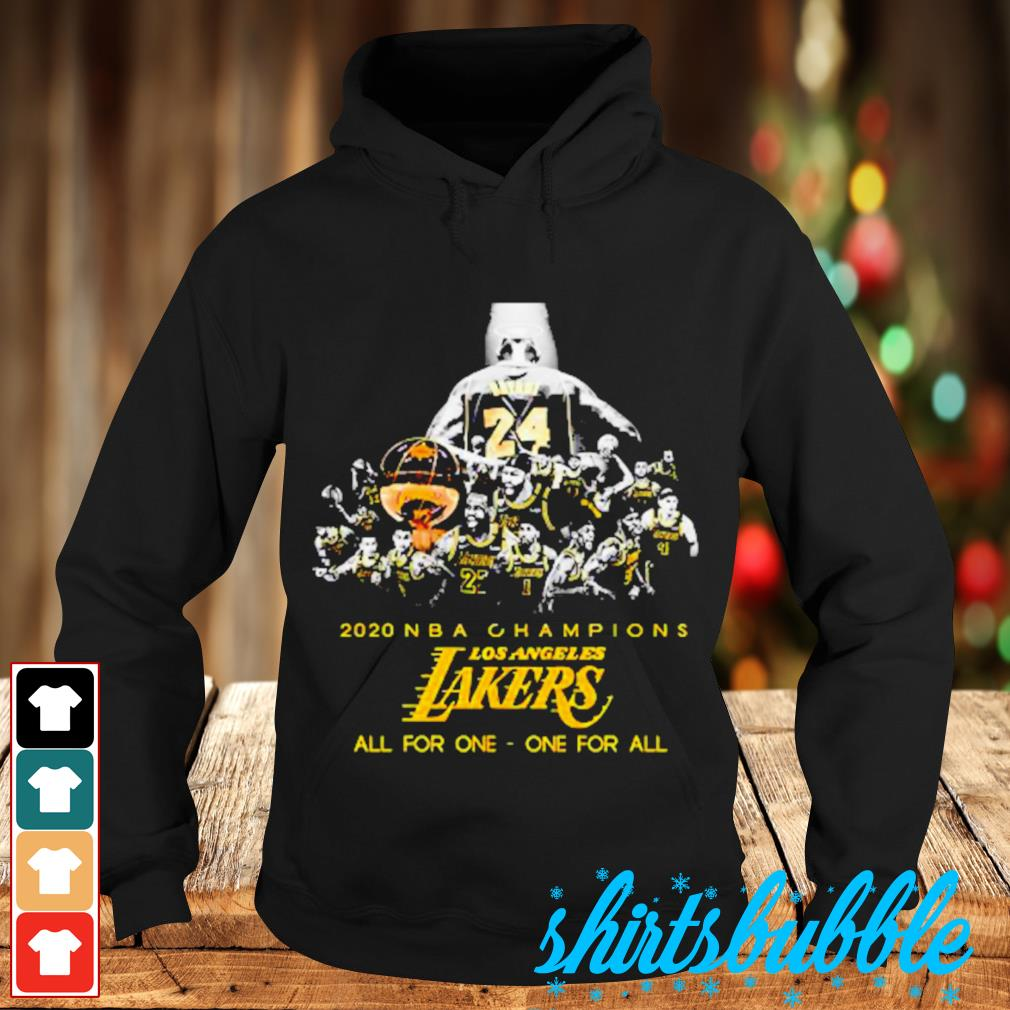 Kobe Bryant 2020 NBA Champions Los Angeles Lakers all for one one for sll s Hoodie