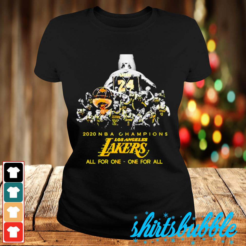 Kobe Bryant 2020 NBA Champions Los Angeles Lakers all for one one for sll s Ladies-tee