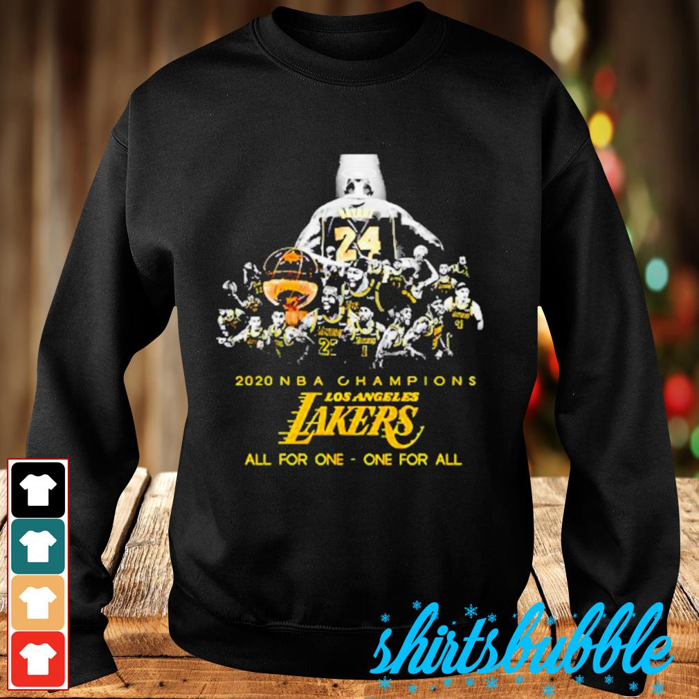 Kobe Bryant 2020 NBA Champions Los Angeles Lakers all for one one for sll s Sweater