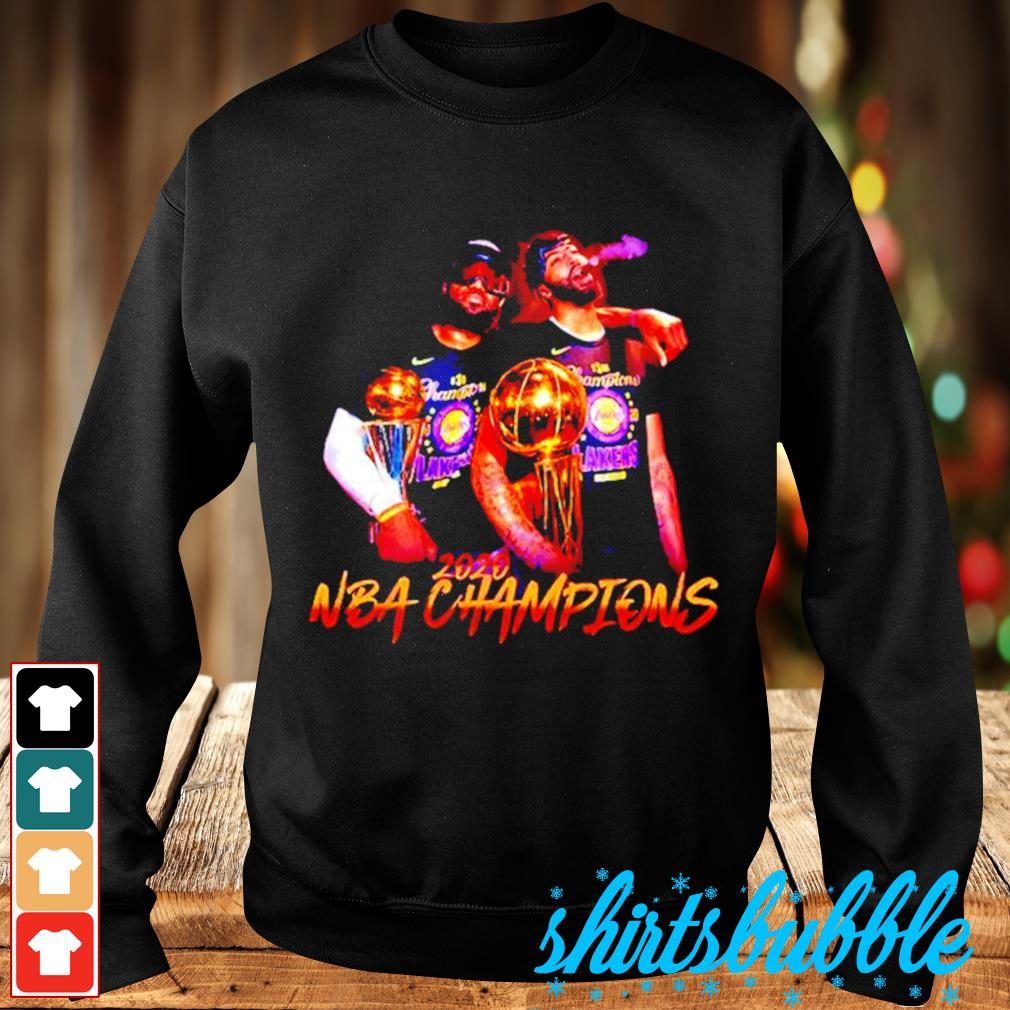 Lakers LeBron James and Danny Green 2020 NBA champions s Sweater