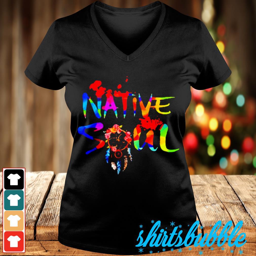 LGBT native soul s V-neck t-shirt