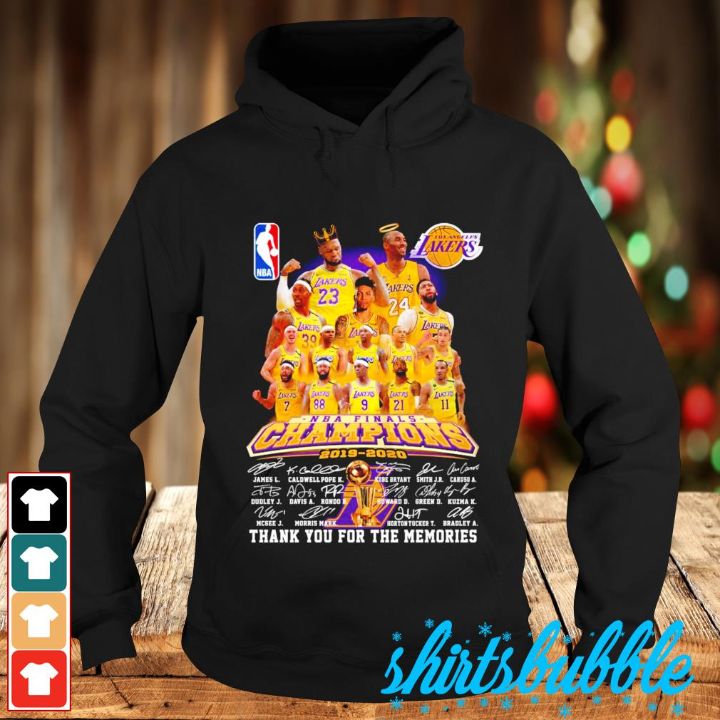 Los Angeles Lakers NBA finals Champions 2019 2020 thank you for the memories s Hoodie