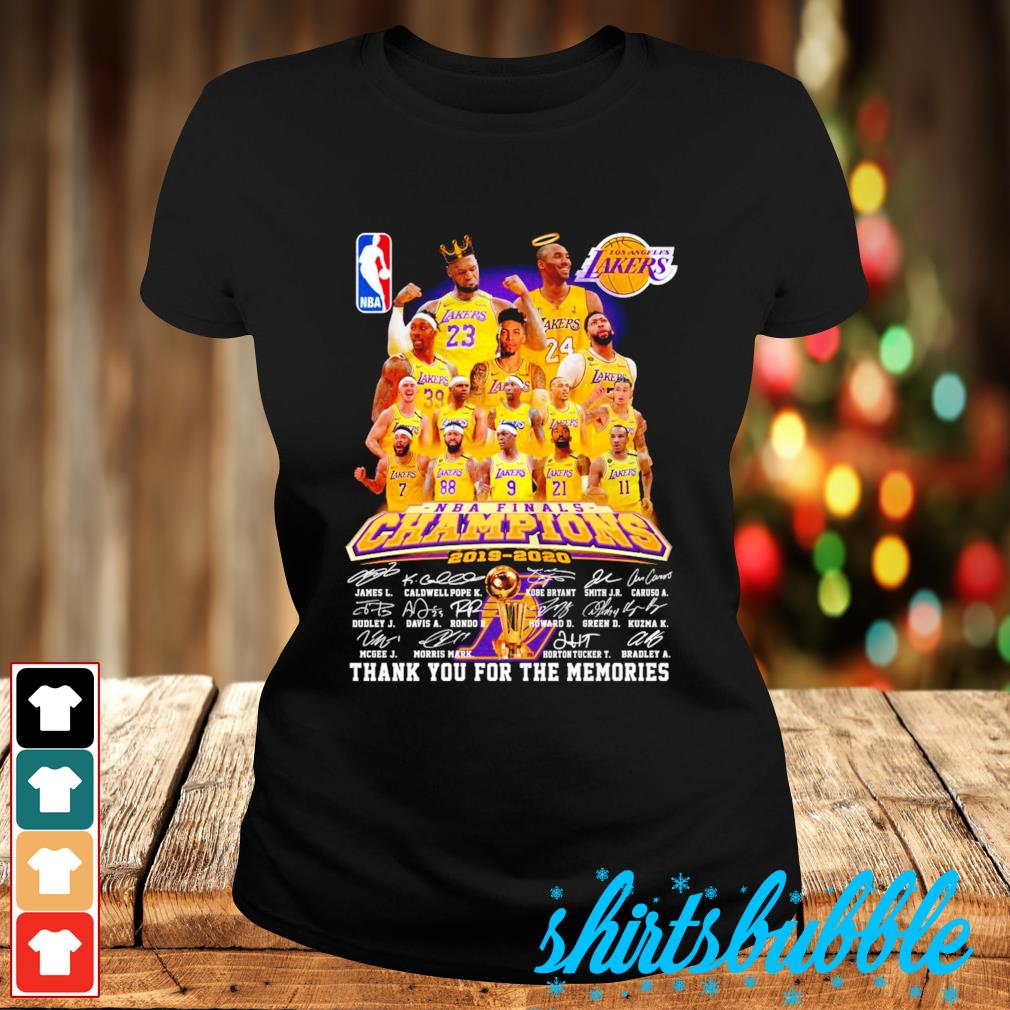 Los Angeles Lakers NBA finals Champions 2019 2020 thank you for the memories s Ladies-tee