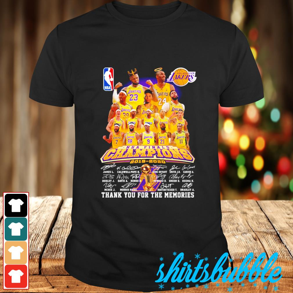 Los Angeles Lakers NBA finals Champions 2019 2020 thank you for the memories shirt