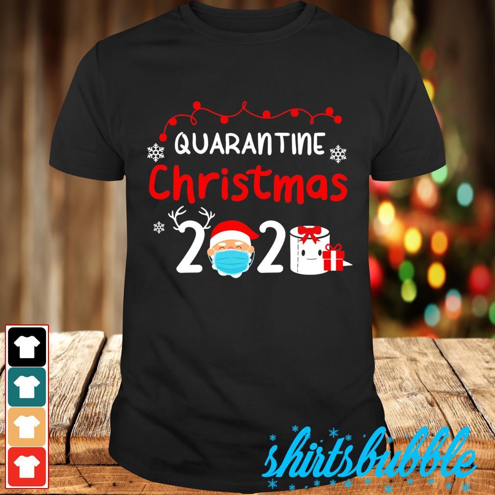 Merry Christmas 2020 quarantine Christmas Santa face mask 2020 shirt