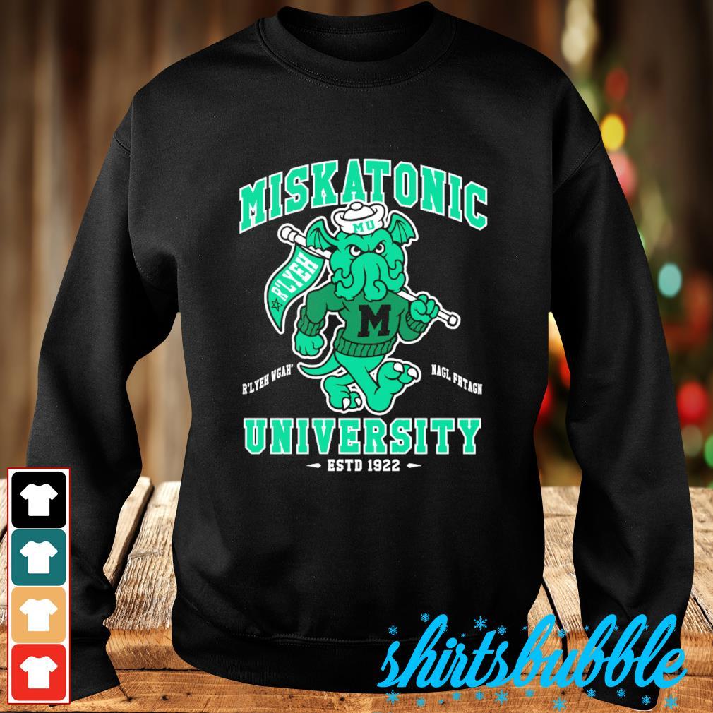 Miskatonic University Cthulhu R'lyeh Wgah' Nagl fhtagn estd 1922 s Sweater