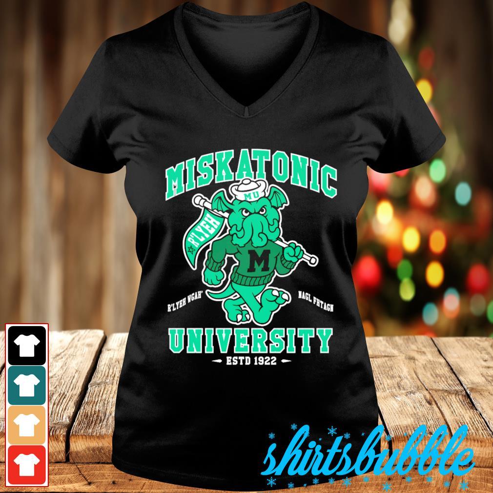 Miskatonic University Cthulhu R'lyeh Wgah' Nagl fhtagn estd 1922 s V-neck t-shirt