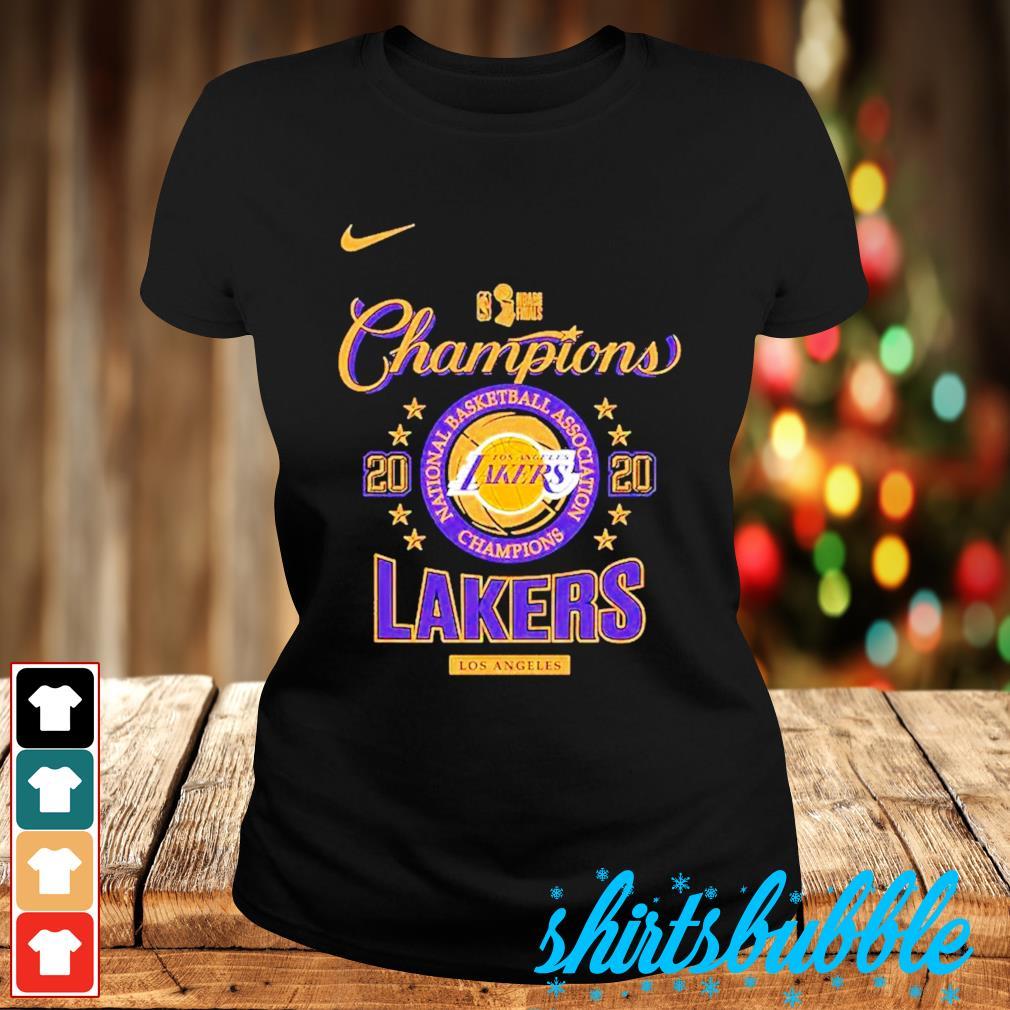 Nike Los Angeles Lakers 2020 NBA finals champions s Ladies-tee