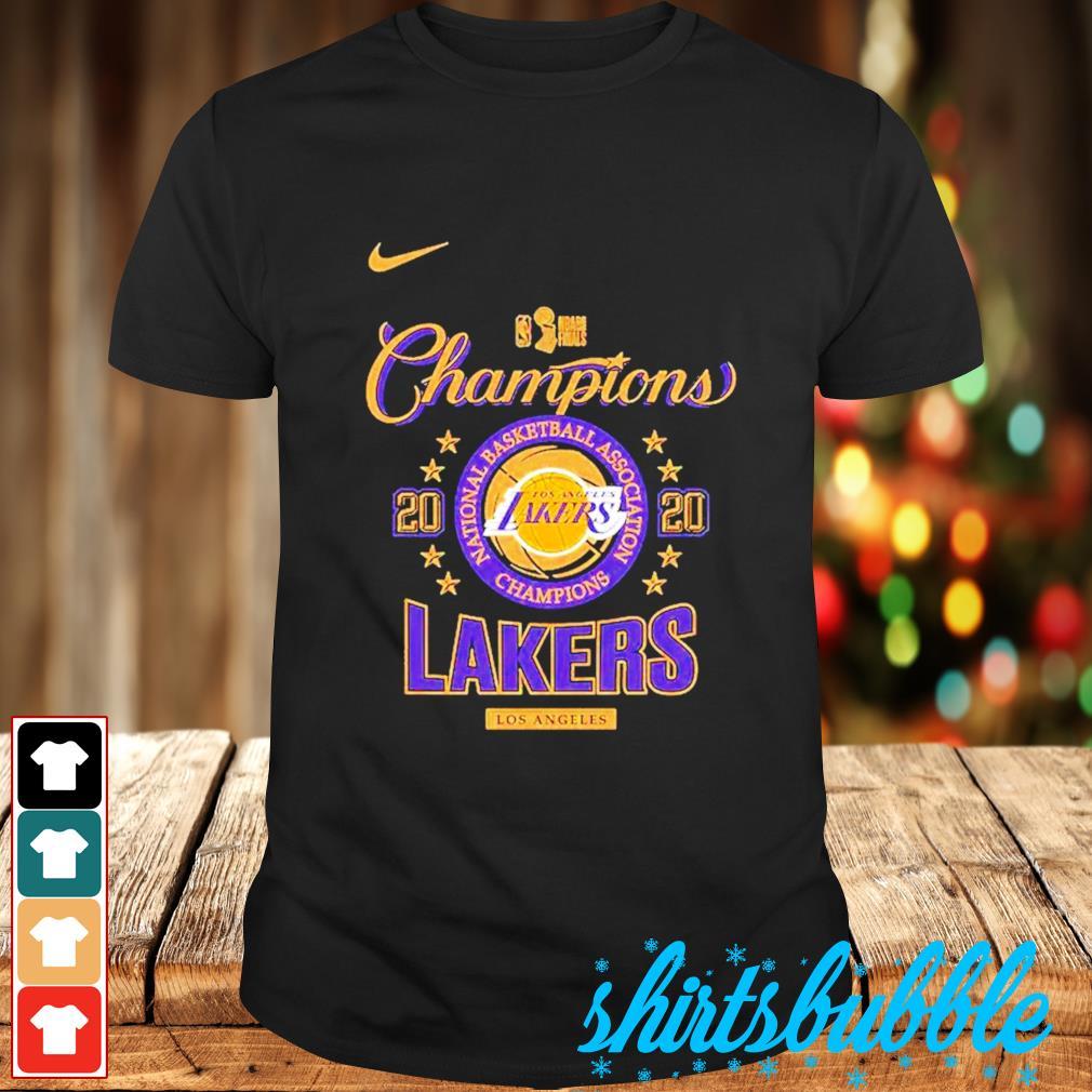 Nike Los Angeles Lakers 2020 NBA finals champions shirt