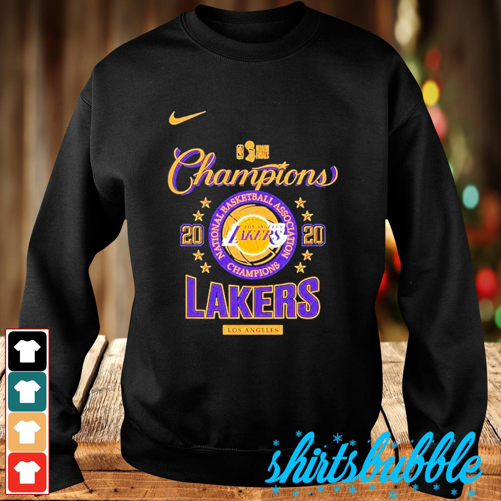 Nike Los Angeles Lakers 2020 NBA finals champions s Sweater