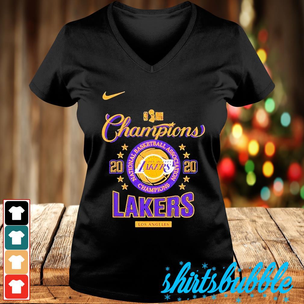 Nike Los Angeles Lakers 2020 NBA finals champions s V-neck t-shirt