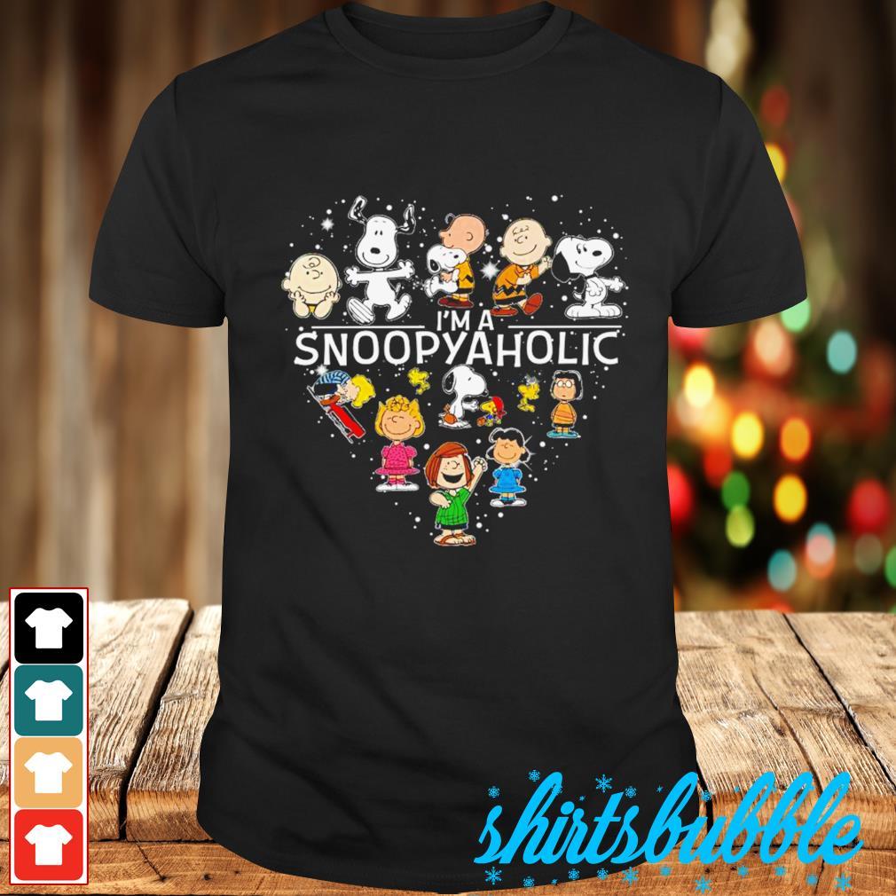 Peanuts heart I'm a Snoopyaholic shirt