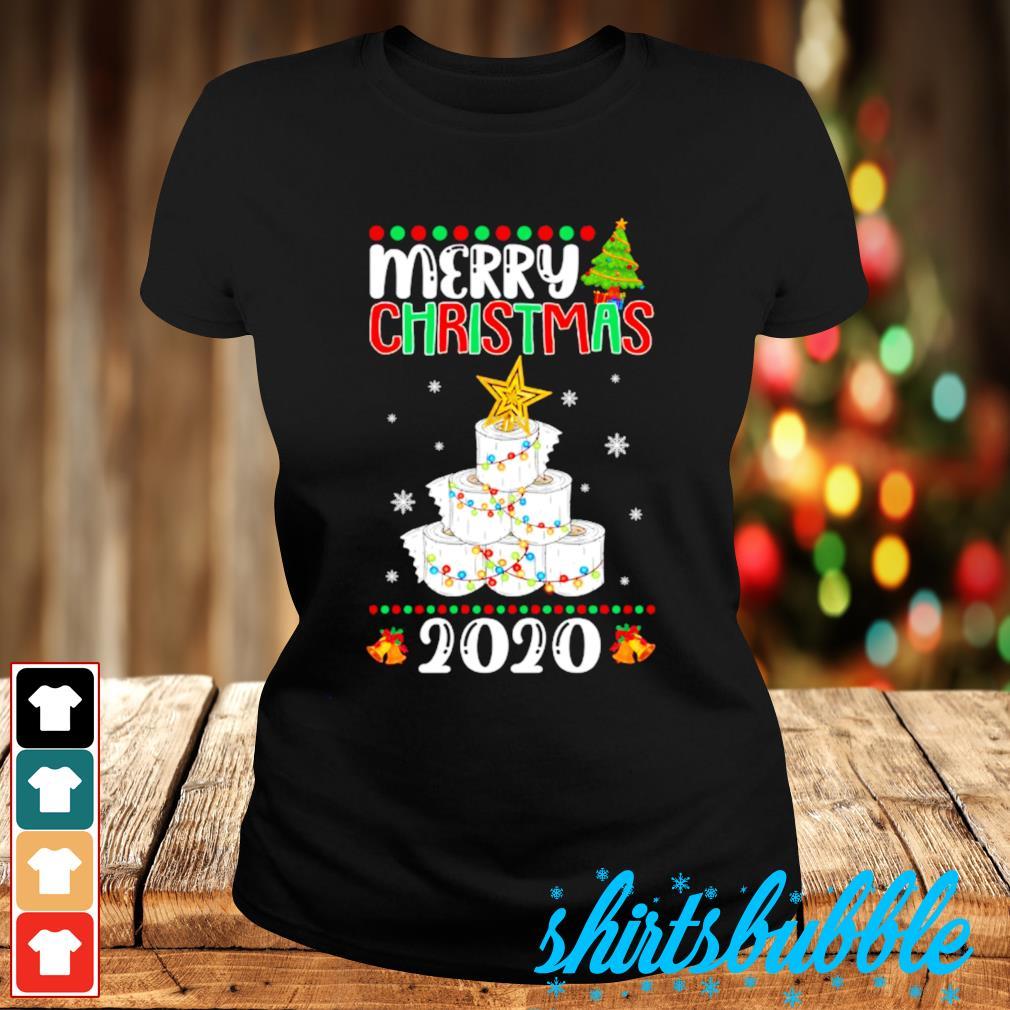 Quarantine Christmas toilet paper tree Merry Christmas 2020 s Ladies-tee