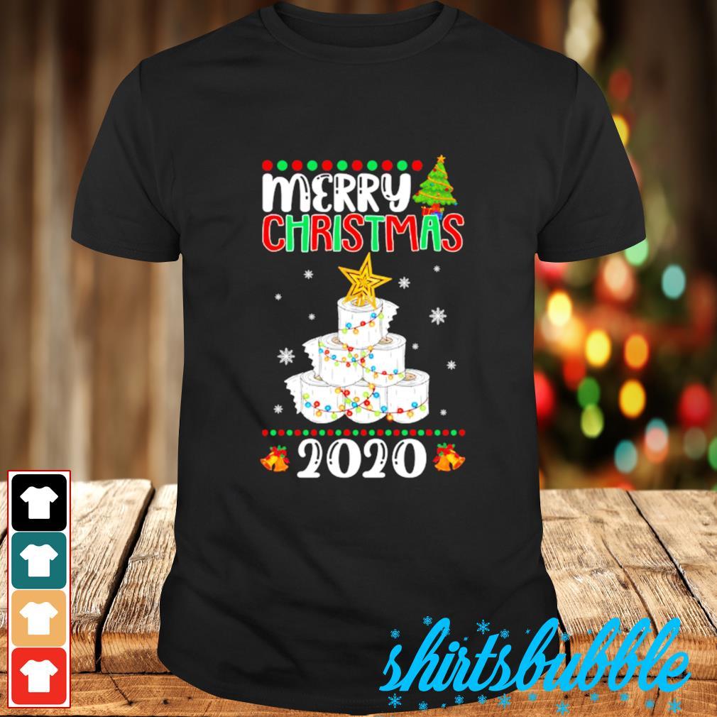 Quarantine Christmas toilet paper tree Merry Christmas 2020 shirt