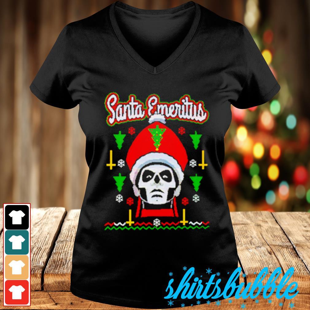 Santa Emeritus Christmas s V-neck t-shirt