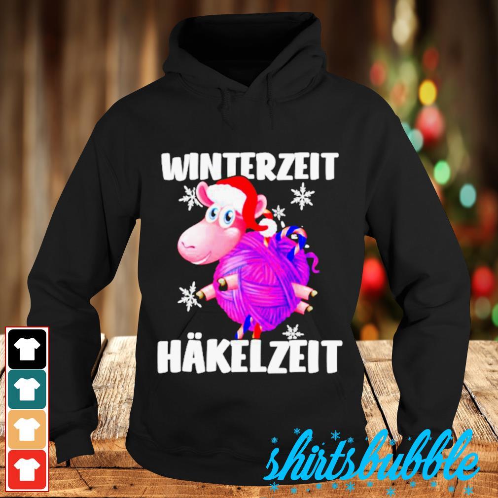 Sheep Santa hat Winterzeit Hakelzeit Christmas s Hoodie