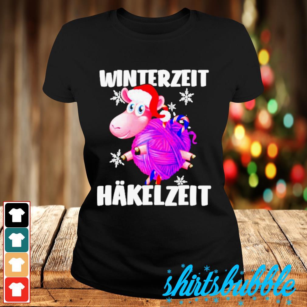 Sheep Santa hat Winterzeit Hakelzeit Christmas s Ladies-tee