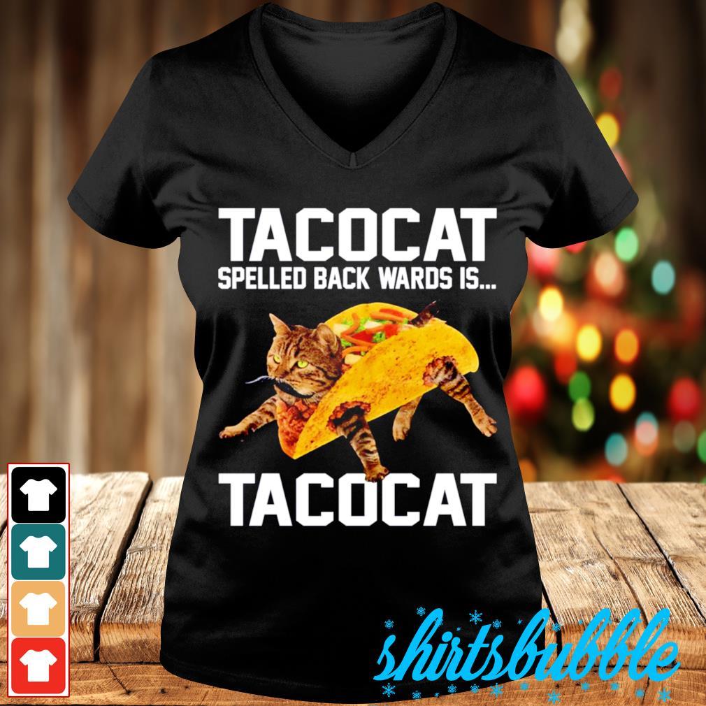 Tacocat spelled backwards is Tacocat s V-neck t-shirt