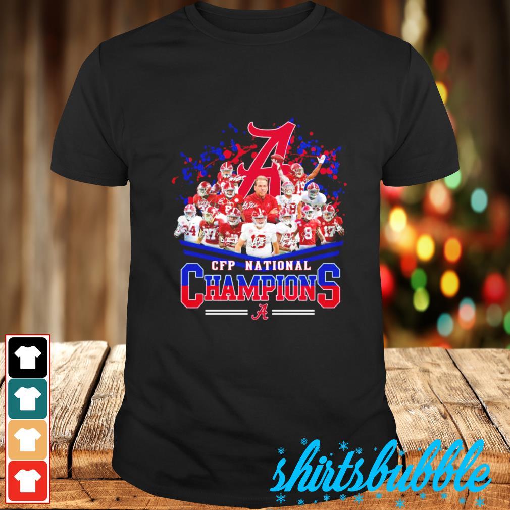 Alabama Crimson Tide CFP National Champions signatures shirt