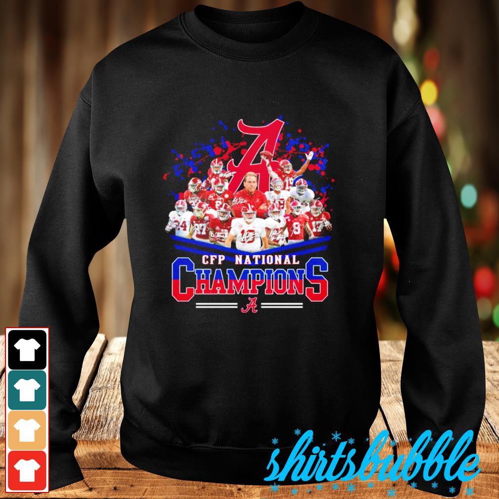 Alabama Crimson Tide CFP National Champions signatures s Sweater