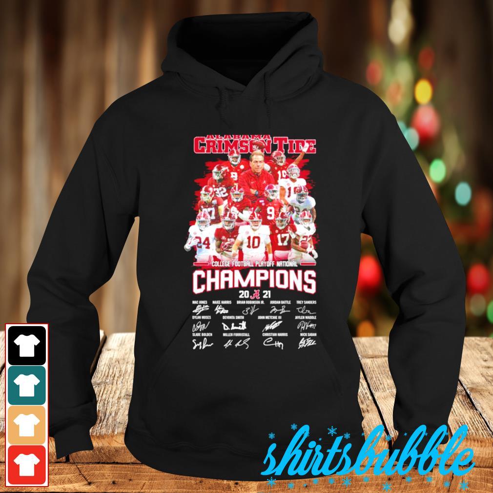 Alabama Crimson Tide College football playoff national champions 2021 s Hoodie