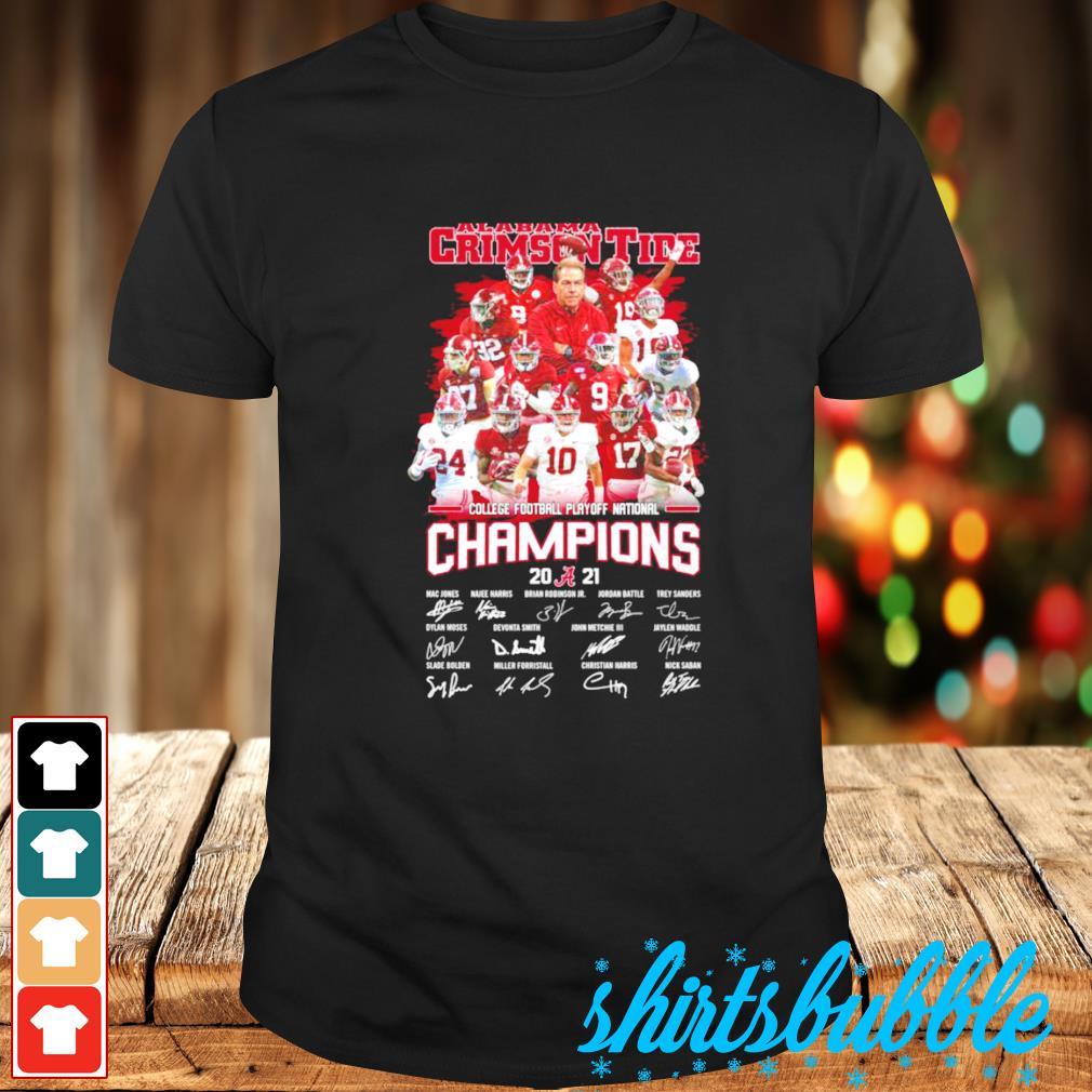 Alabama Crimson Tide College football playoff national champions 2021 shirt