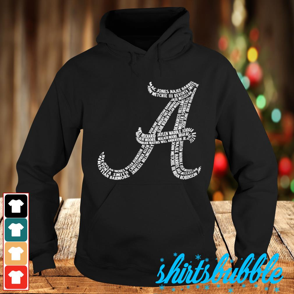 Alabama Crimson Tide player names s Hoodie