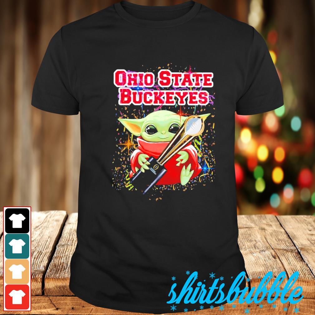 Best Baby Yoda hug Ohio State Buckeyes champion cup shirt